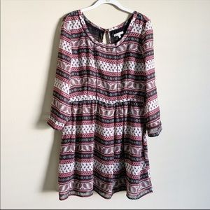CHARLOTTE RUSSE / pink and black dress / large